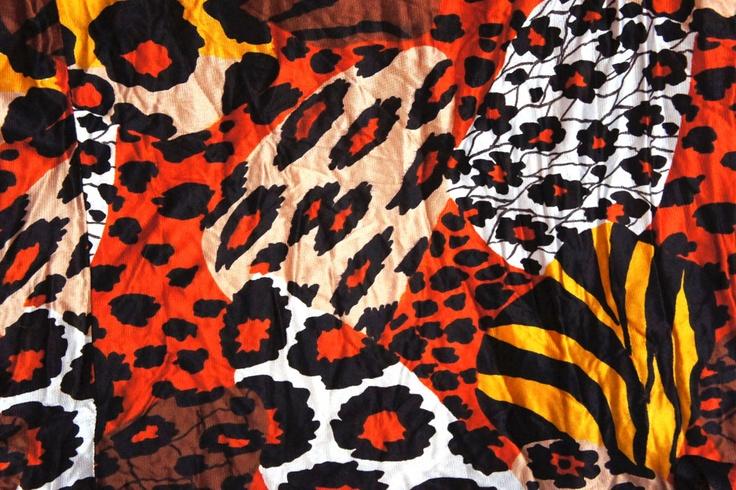 Orange Big Cat Animal Print StretchOrange Animal Print