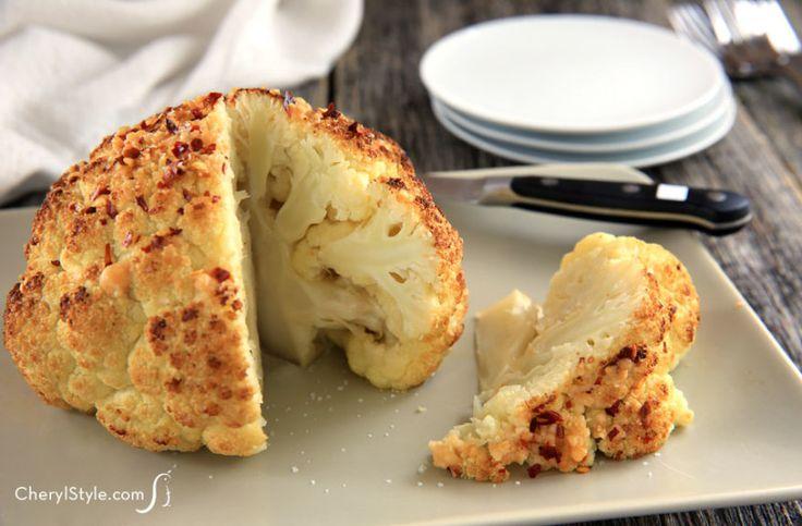 Whole Head Roasted Cauliflower Recipe — Dishmaps