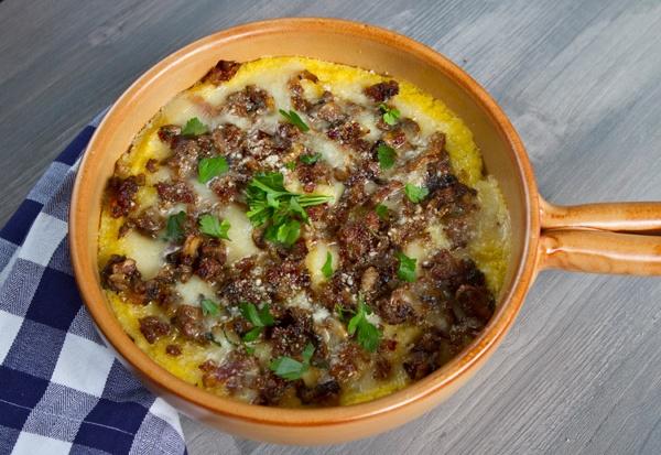 Baked Polenta With Sausage & Mushrooms | Italian Food - Cucina Italia ...