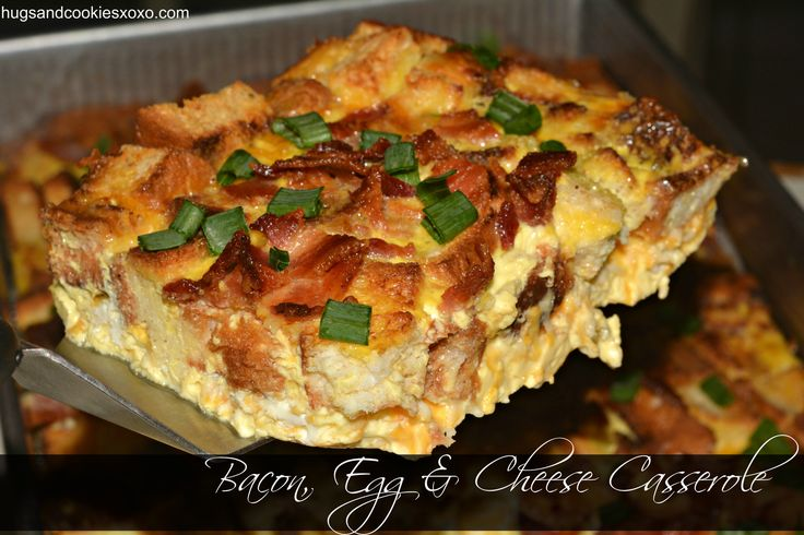 Overnight Bacon Egg Cheese Casserole | Breakfast or Brunch | Pinterest