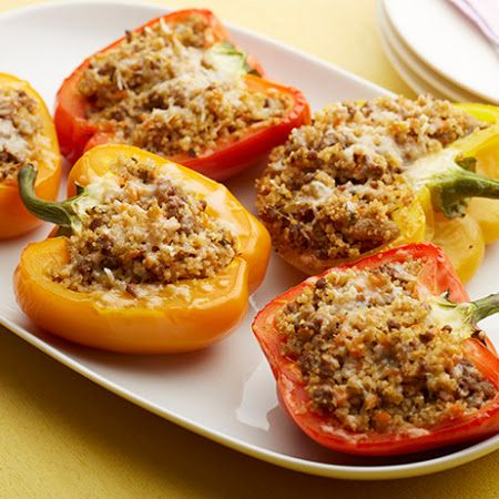 Sweet and Sour Couscous-Stuffed Peppers | Vegan Dinners & Sides | Pin ...