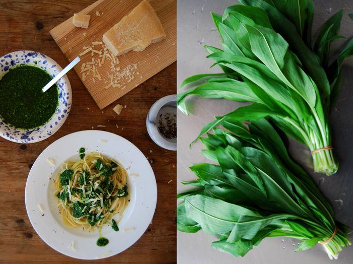 Pasta with Ramp Pesto | drool | Pinterest