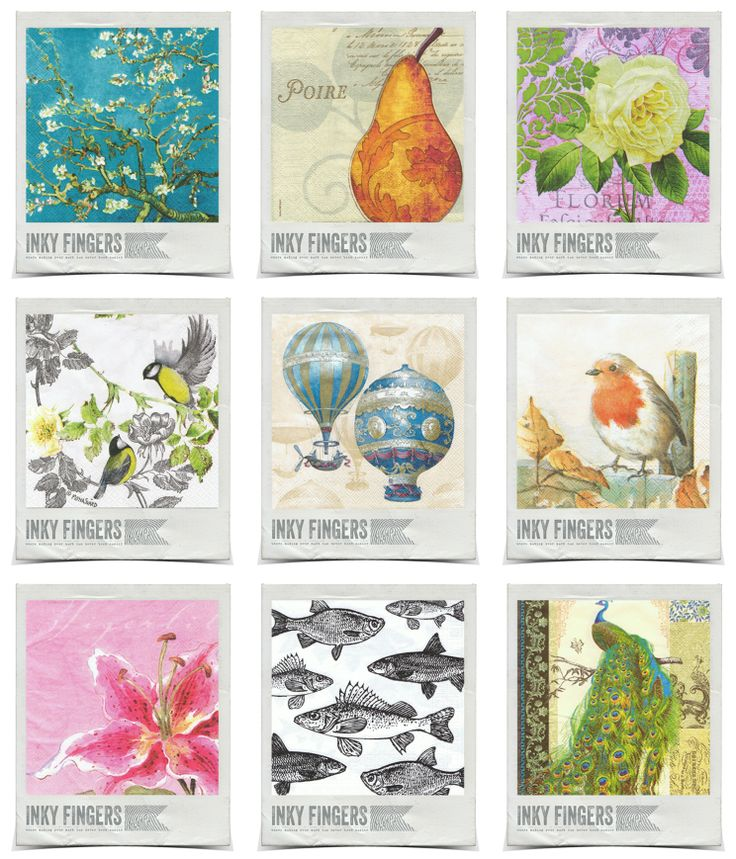 Over 80 different serviettes for sale at http://inkyfingers.bigcartel.com/category/decorative-serviettes CHECK IT OUT!!!