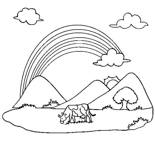 f rainbow coloring pages - photo#20