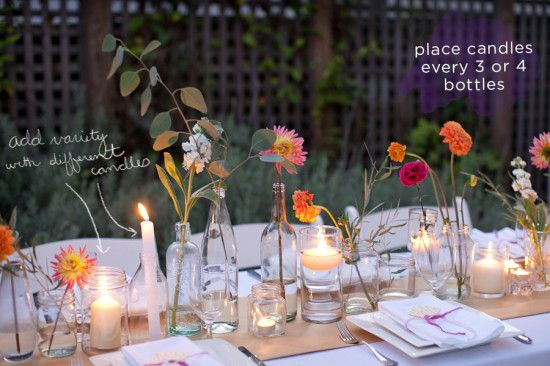 How To Make a Simple, Colorful Tablescape « A Practical Wedding: Blog Ideas for Unique, DIY, and Budget Wedding Planning A Practical Wedding: Blog Ideas for Unique, DIY, and Budget Wedding Planning