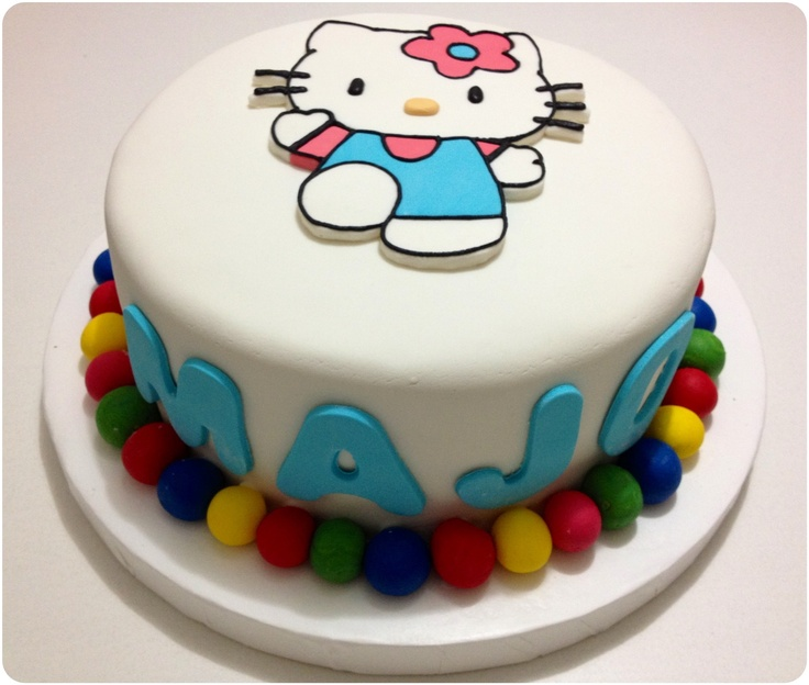 Decoracion Hello Kitty Para Cumplea?os ~ Torta de Hello Kitty para cumplea?os  Tortas x Ale Bonells  Pintere