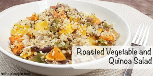 Roasted vegetable and quinoa salad | bits and pieces | Pinterest
