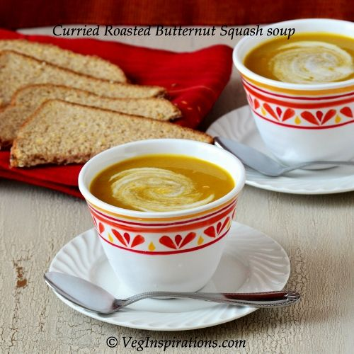 Curried Roasted Butternut Squash Soup #Vegan #Vegetarian #Soups # ...