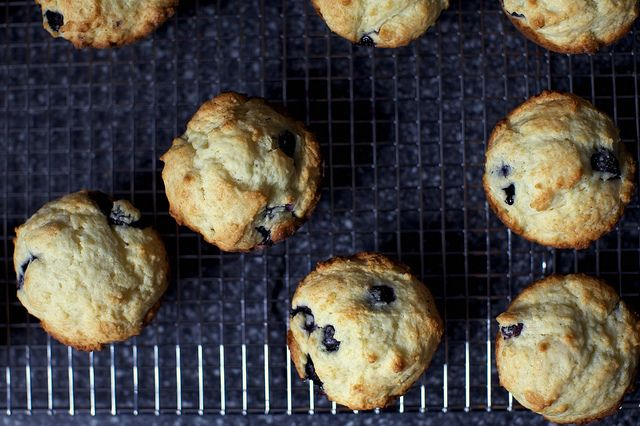 Perfect blueberry muffins! Made them, but added some ricotta to the ...