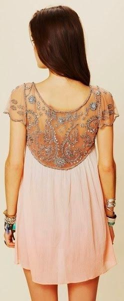 Beaded back dress