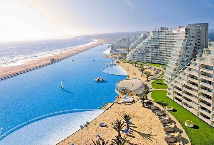 WORLD'S LARGEST SWIMMING POOL, San Alfonso del Mar, Chil