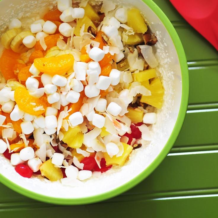 Ambrosia Salad #SundaySupper | Yummy fruit | Pinterest