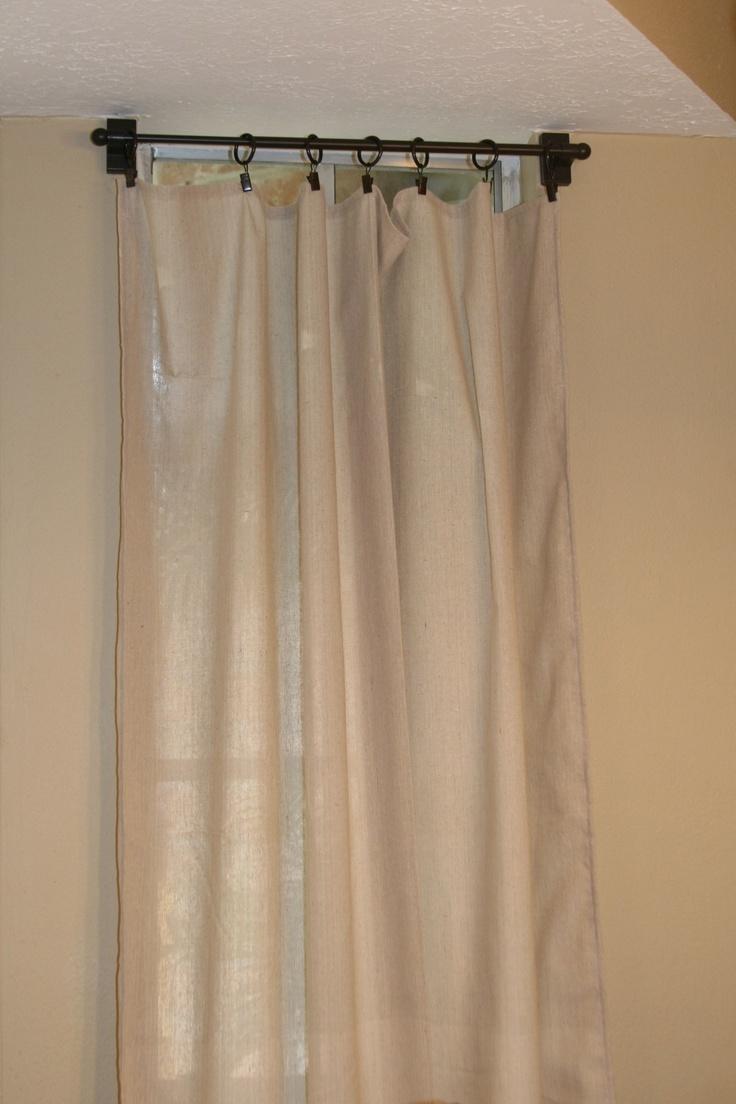Easy Sew Curtains with Clip Hooks | Buller Maison Deux | Pinterest
