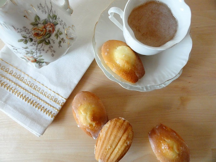 Madeleines wth Orange Glaze | Coffee & Tea Cakes | Pinterest