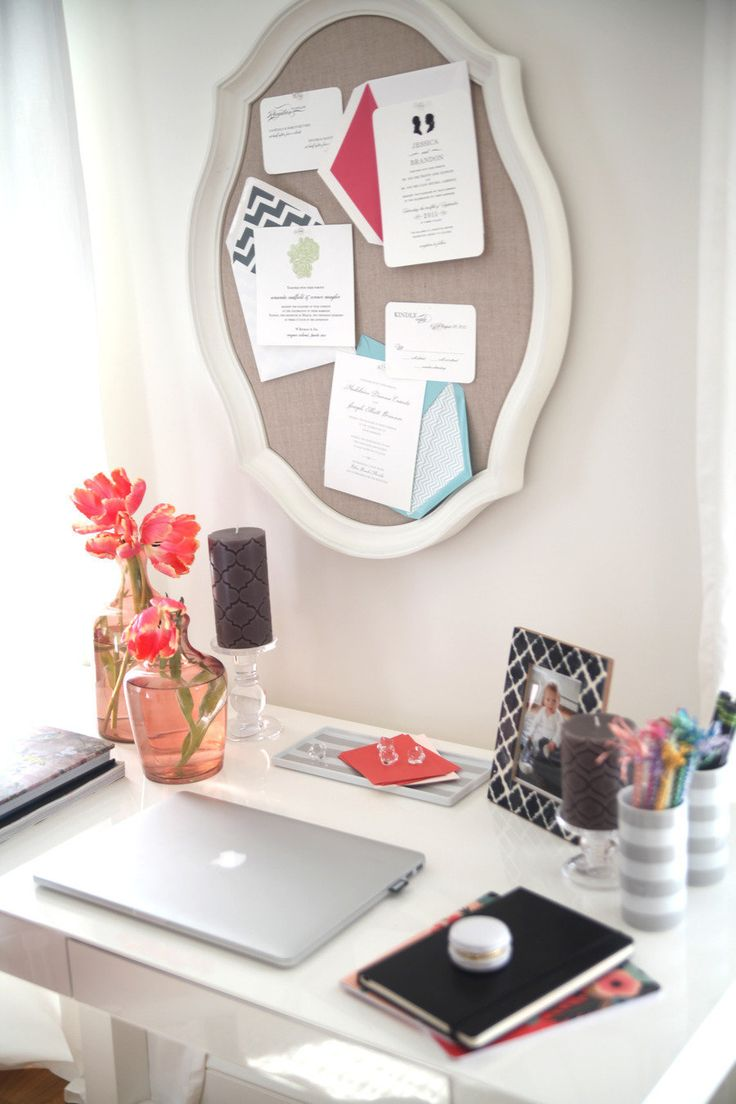 How to decorate your desk basement ideas pinterest for Ideas to decorate