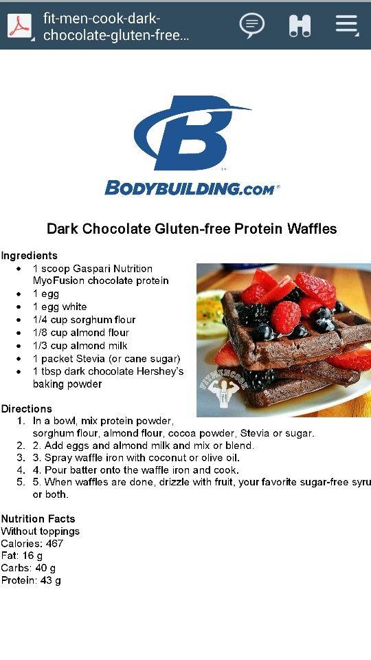 Dark chocolate waffles | Favorite Recipes | Pinterest