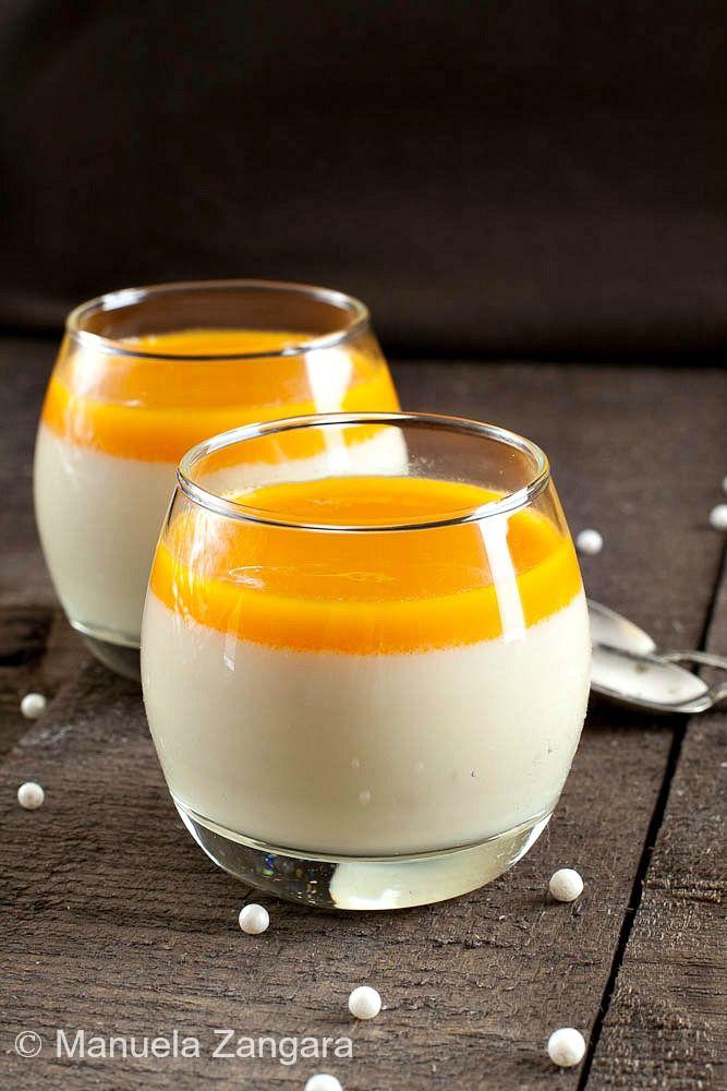 Jasmine and mango panna cotta shooters | Recipe