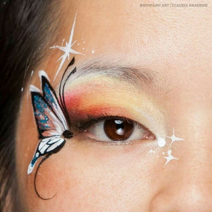 Eye Art Face Painting Ideas And Tricks Pinterest