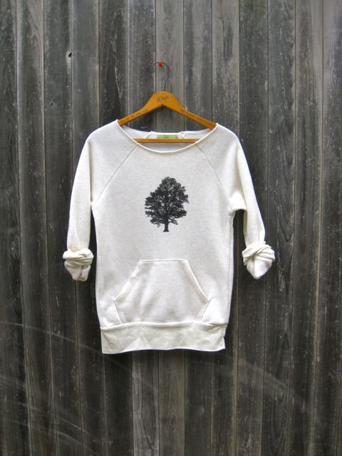 therapy bracelet sittin under the Oak Tree Sweatshirt Camping Top Tree Sweater Eco