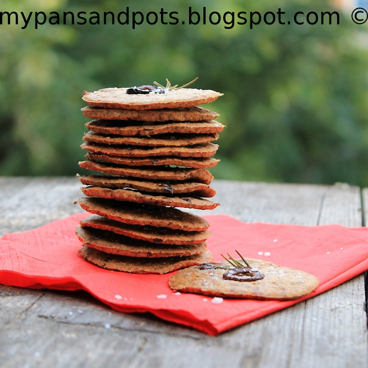 Olive and rosemary oat crackers | Breads, Muffins, Rolls, and Scones ...