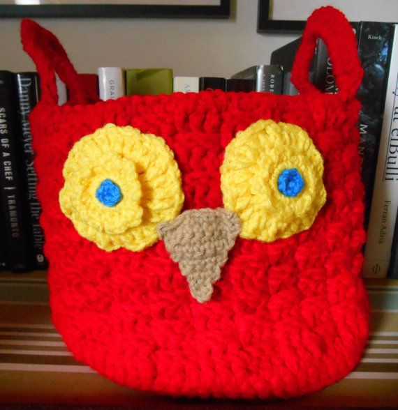 Crochet Owl Basket : Crochet Baskets