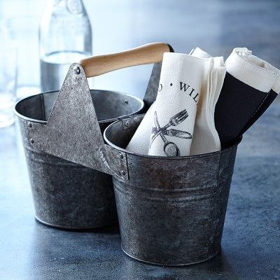 Williams-Sonoma Open Kitchen Galvanized Bucket #williamssonoma