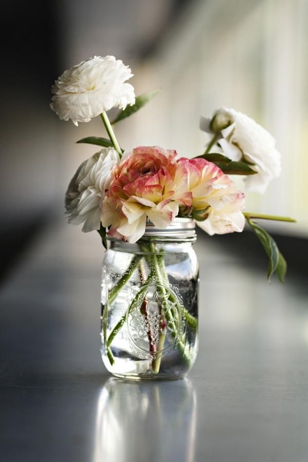 A simple mason jar full of flowers floral pinterest for How to arrange flowers in mason jar