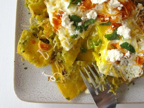 ... tomatillo salsa and poblanos and with chilaquiles with tomatillo salsa
