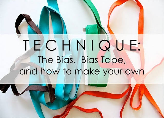 How to make bias tape, from MADE