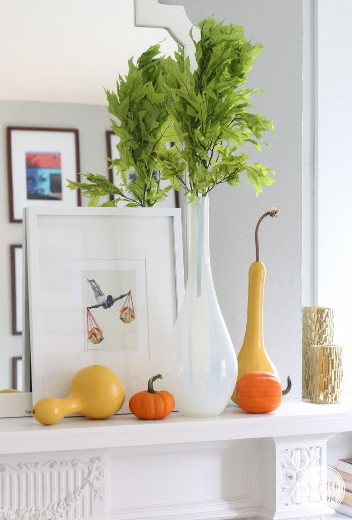 Colorful Painted Gourds for Fall