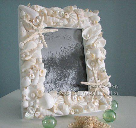 """Идей на тему """"Рамка Из Ракушек в Pinterest"""": 1000+ Рамка из ракушек, Рамки для фотографий с ракушками и Поделки из ракушек"""