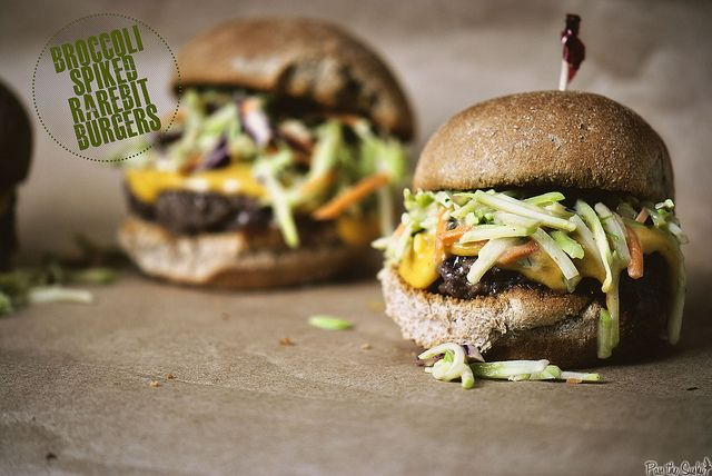 Broccoli Spiked Rarebit Burgers | Recipe