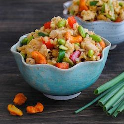 Sriracha Cashew Chicken Fried Rice | magnificent mains | Pinterest
