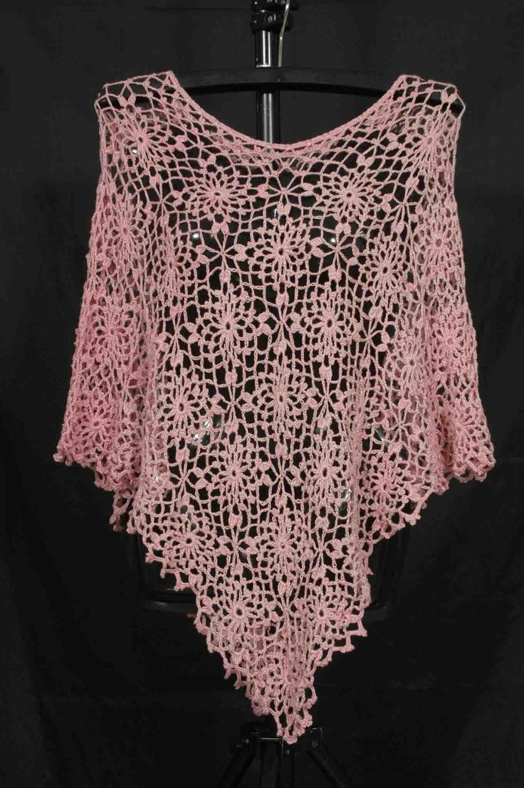 Knitting Pattern For Lace Poncho : #lace #poncho! #crochet Crochet, Knit, Anything else Pinterest