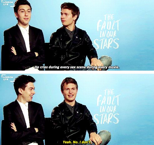 Ansel Elgort and Nat Wolff | ansel elgort | Pinterest