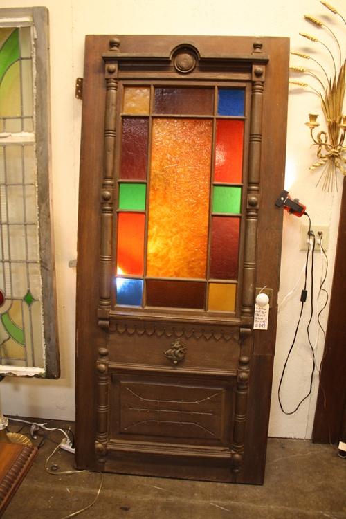 Antique stained glass door good stuff pinterest for Old glass doors
