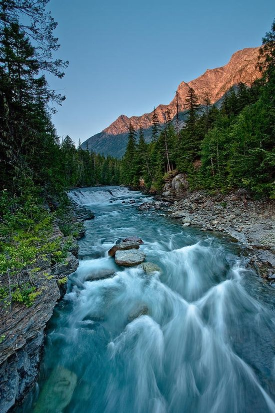 McDonald Falls, Glacier National Park, Montana; photo by Craig Brown
