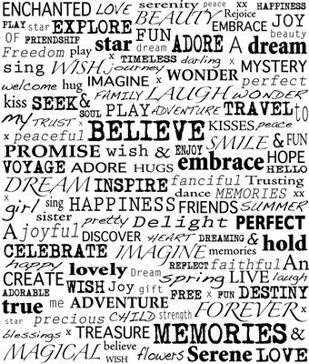 Words that inspire christmas feelings canvas linnen