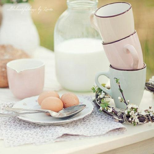 breakfast in soft pastels