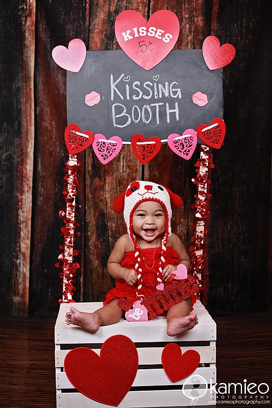 valentine newborn photo ideas