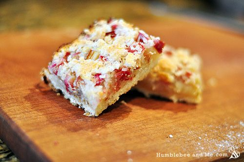 Rhubarb Lemon and Ginger squares | Cookies | Pinterest
