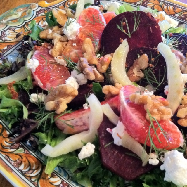 ... orange margarita roasted beet and blood orange salad with spicy greens