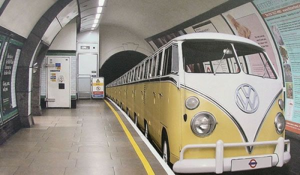 Vw Bus Camper Subway Train Is So Cool Hot Rides Pinterest