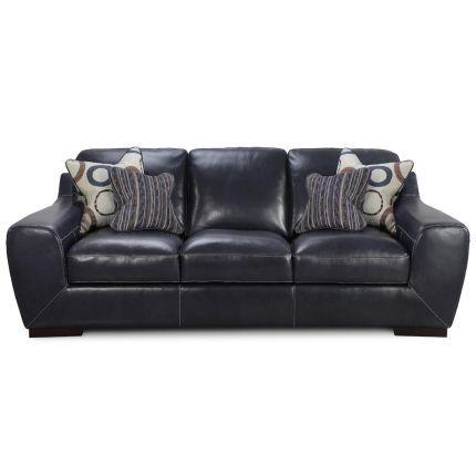 93 cobalt blue leather sofa home pinterest