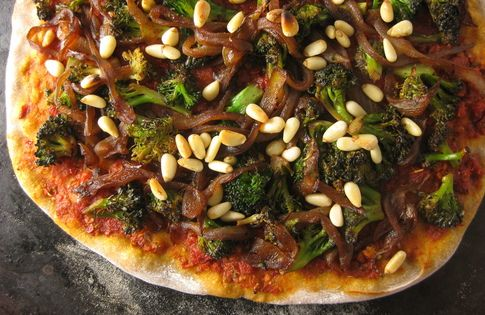 Caramelized Broccoli And Red Onion Pizza Recipes — Dishmaps