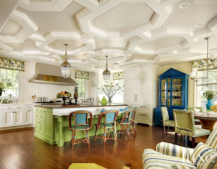Transitional Blue and Green Kitchen  Home Ideas  Pinterest