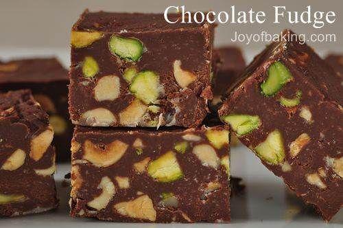 Chocolate Pistashio OR Chocolate Hazelnut Fudge... National Fudge Day ...