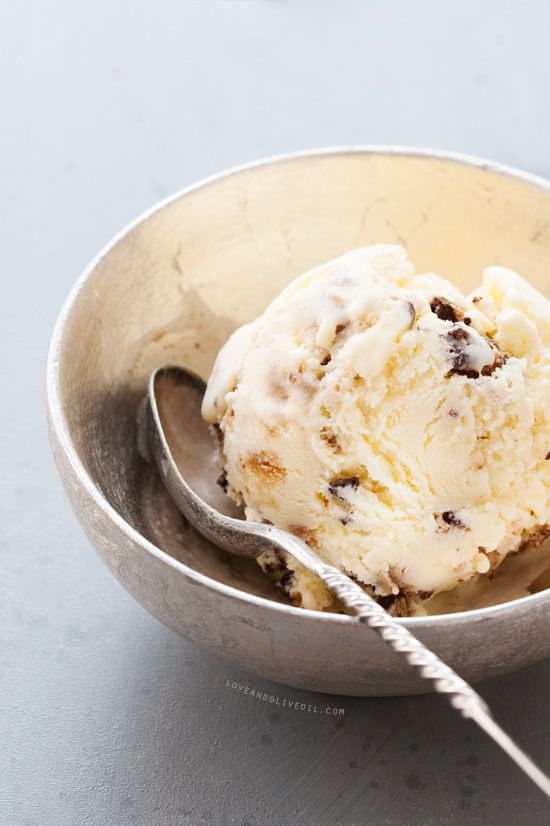 Chocolate Chip Cookies & Cream Ice Cream | Sweetness | Pinterest