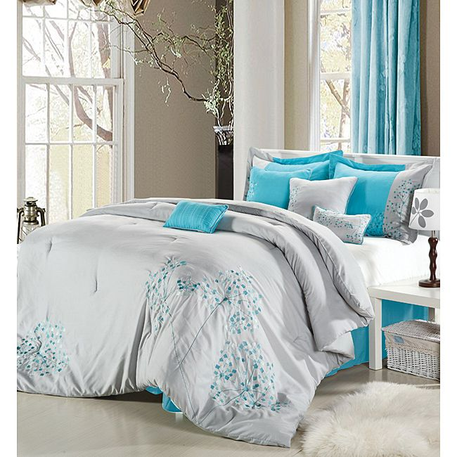 Light Gray/Teal Bedding  The Bedroom  Pinterest