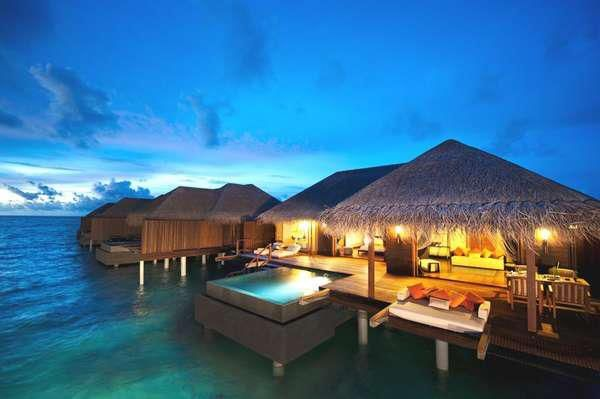 Pack your favorite 2012 Resort pieces and get away! The Ayada Maldives Resort is tucked away in the Maldive Islands off the coast of India. This luxurious getaway boasts 112 villas, a 3,500 square foot spa and seven indulgent restaurants, bars and cafes that cater to the most refined palates.